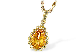 F235-31342: NECKLACE 1.06 CT CITRINE
