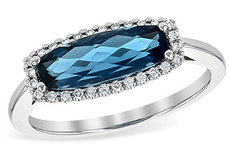 G236-23169: LDS RG 1.79 LONDON BLUE TOPAZ 1.90 TGW